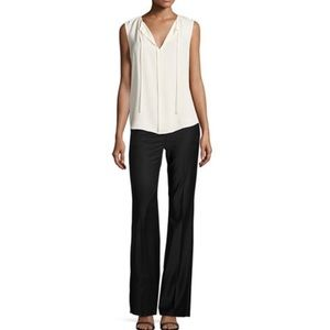 Theory Black Jotsna Continuous Stretch Wool pants
